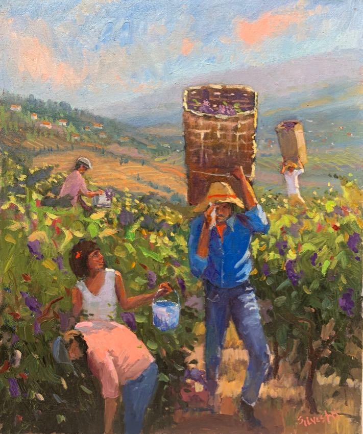 Harvest Time Silvio Silvestri 18x24 oil