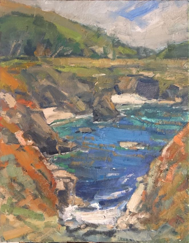South of Carmel Karl Dempwolf 14x11 oil