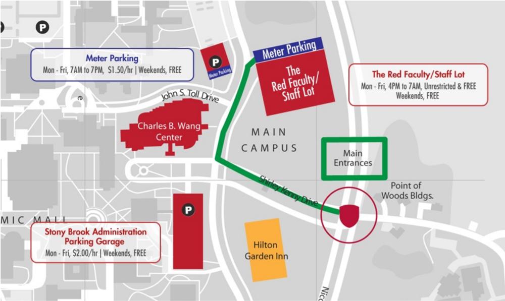 charles b wang center parking map
