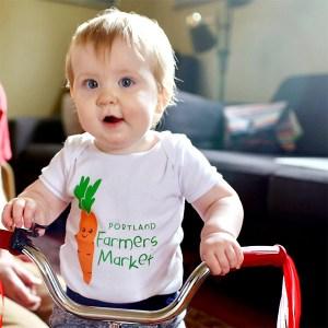 Portland Farmer's Market Baby Onesie