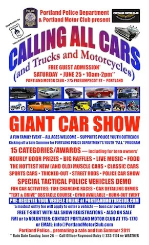 SHOW IS ON SATURDAY To FREE ADMISSION REGISTER CARS AT GATE - Fun car show award categories