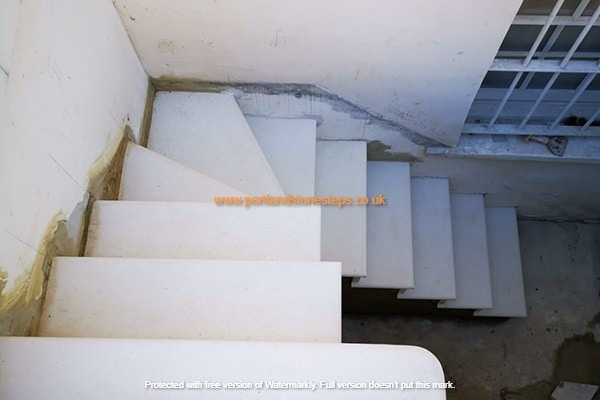 Portland Stone Basement Steps