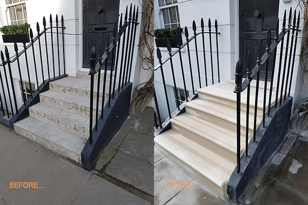 Portland London Steps Before After