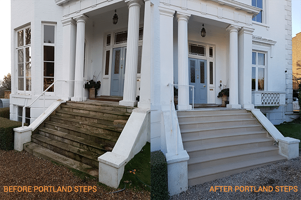Portland Steps Before and After