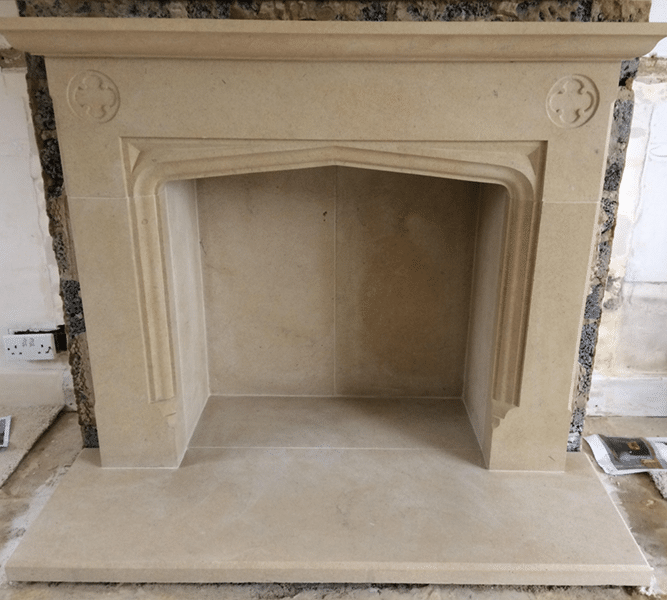 Hand Crafted Fireplace
