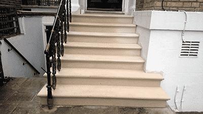 Bespoke Portland Stone Steps London