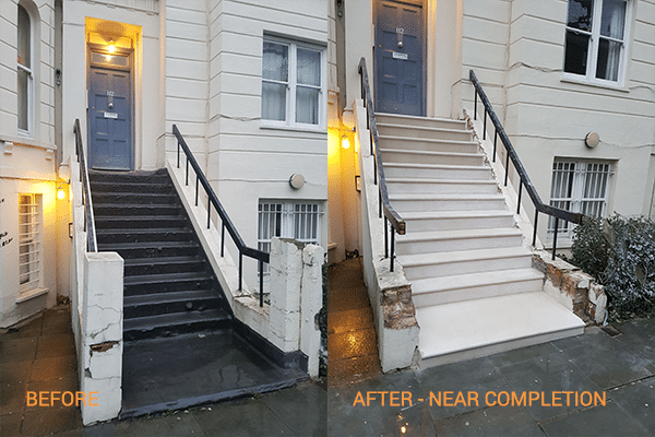 Portland Stone Before And After