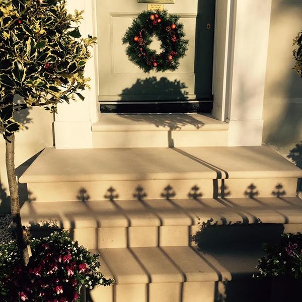Portland Stone Christmas Steps