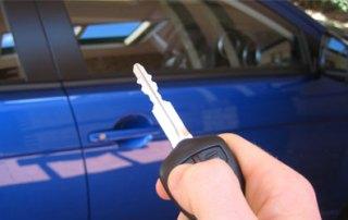Electronic car key jamming