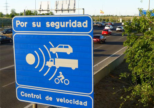 Speed control radar Spain