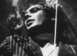 Carmelo Bene in una foto di scena di Nostra Signora dei Turchi