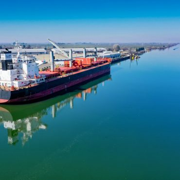 Ship at the Port of Stockton
