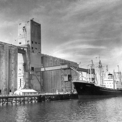SS Cuxhaven loading barley @ Stockton 7/7/60