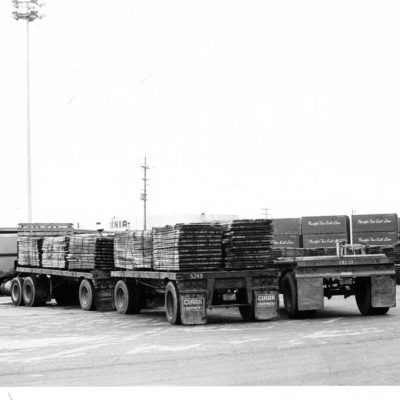 1960s trucks at the Port of Stockton