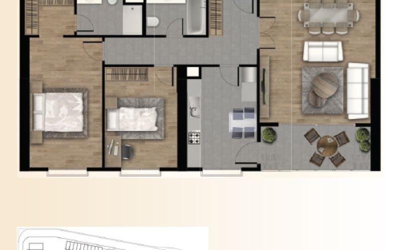 صور مخطط مجمع افينيو اسطنبول Avenue Istanbul ، بيوك جكمجة ، اسطنبول | بورتوكوزا العقارية