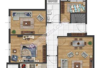 شقة للبيع  غرف 3+1 في أفجلار