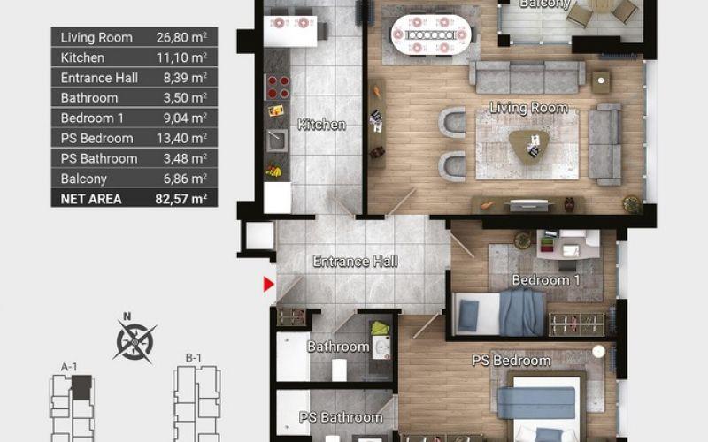 صور مخطط  كوليت أفجلار (Collet Avcılar) ، أفجلار ، حي فيروز كوي ، اسطنبول | بورتوكوزا العقارية