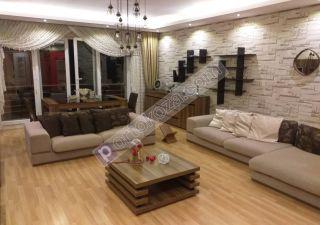 شقة مفروش للبيع  مناسبة للعائلات غرف 3+1 في بيليك دوزو ، حي جوربينار