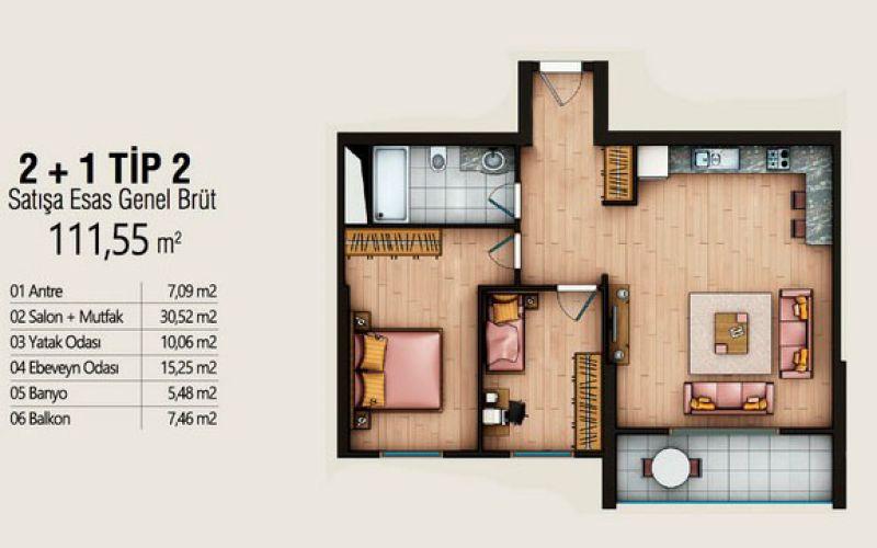 صور مخطط  كوينتو بلس (Cuento Plus) ، عمرانية ، اسطنبول | بورتوكوزا العقارية