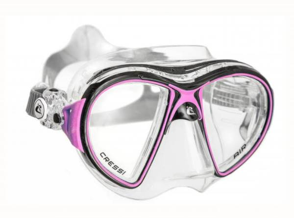 Máscara Cressi AIR Crystal negro rosa