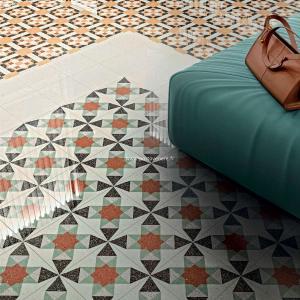 Carrelage imitation carreau ciment ancien décoré TWENTY - Porto Venere