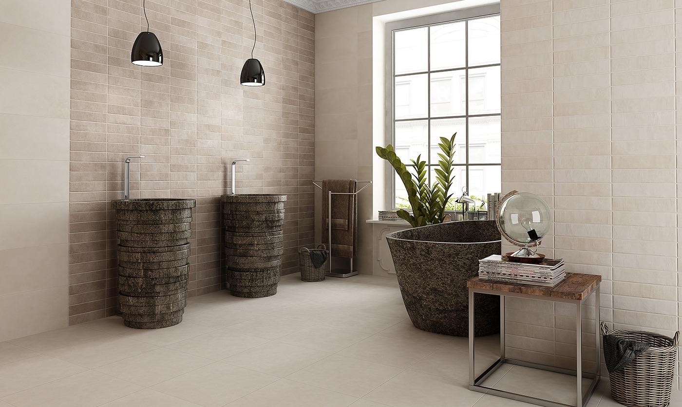 carrelage de salle de bain beige avenue