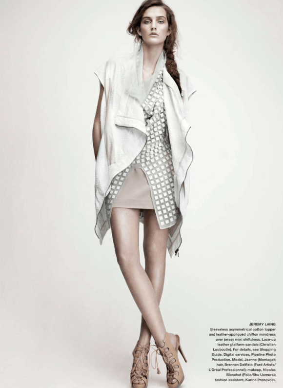 Jeanne Bouchard photographed by Nelson Simoneau for Elle Canada, March 2010 9