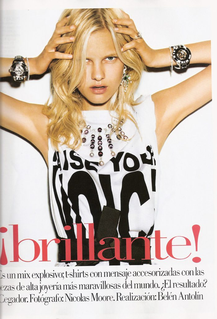 """Hannah Holman photographed by Nicolas Moore in """"¡Brillante!"""" for Vogue Spain, February 2010 3"""