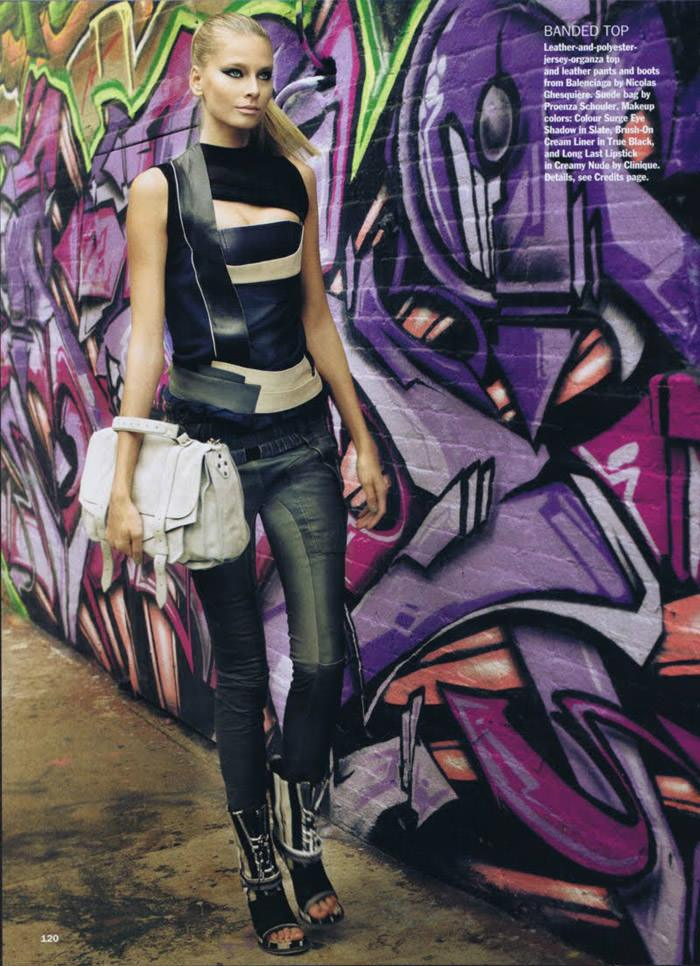 """Hana Soukupova photographed by Regan Cameron in """"Wall Flowers"""" for Allure, February 2010 2"""