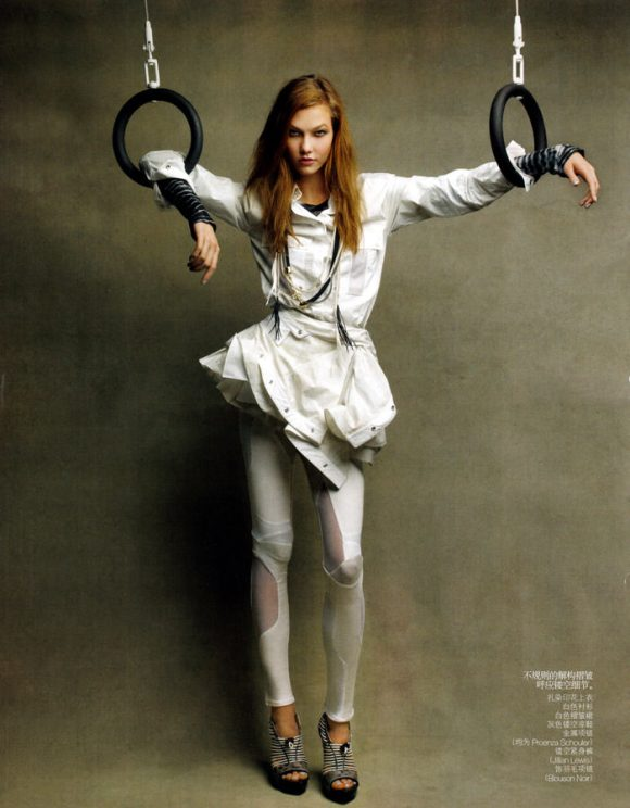"""Karlie Kloss photographed by Patrick Demarchelier in """"Perfect Sport"""" for Vogue China, February 2010 2"""