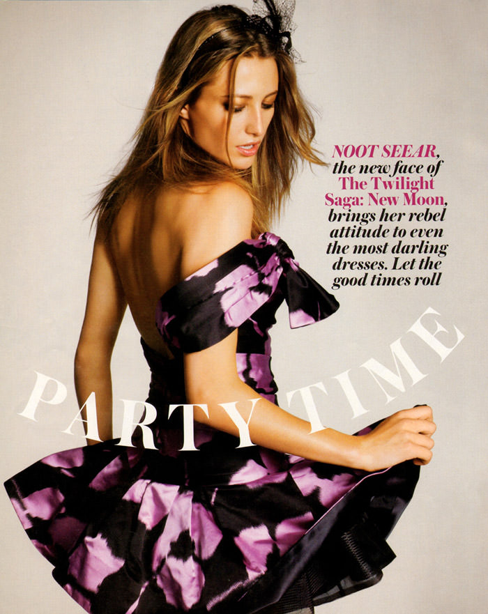 """Noot Seear photographed by Simon Burstall in """"Party Time"""" for In Style, December 2009 1"""