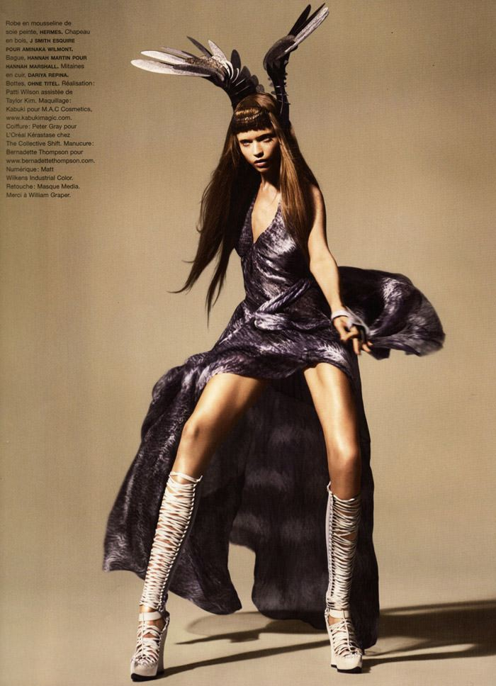 """Abbey Lee Kershaw photographed by Miguel Reveriego in """"Oiseau Rare"""" for Numéro #109 11"""