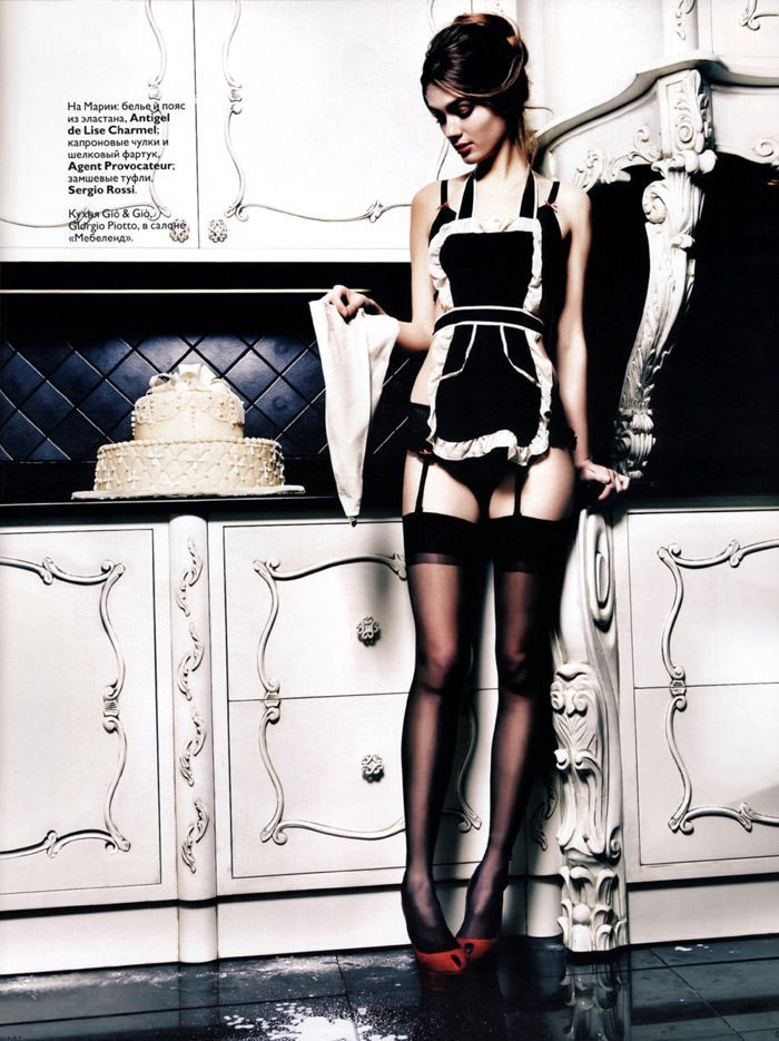 """Maria Timonina photographed by Danil Golovkin in """"We Prepare Surprises"""" for Vogue Russia, January 2010 4"""