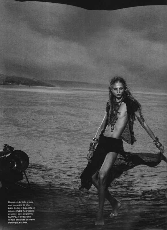 Anna Selezneva photographed by Peter Lindbergh in Numéro #110 6