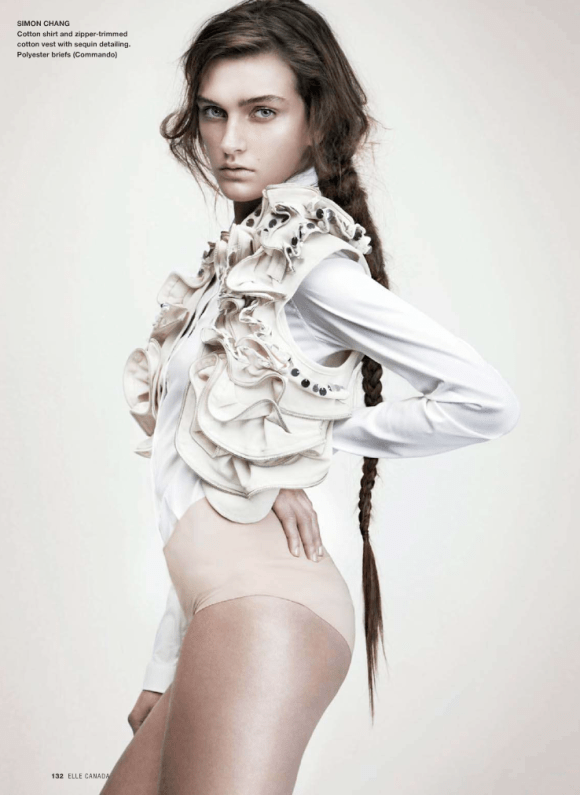Jeanne Bouchard photographed by Nelson Simoneau for Elle Canada, March 2010 8