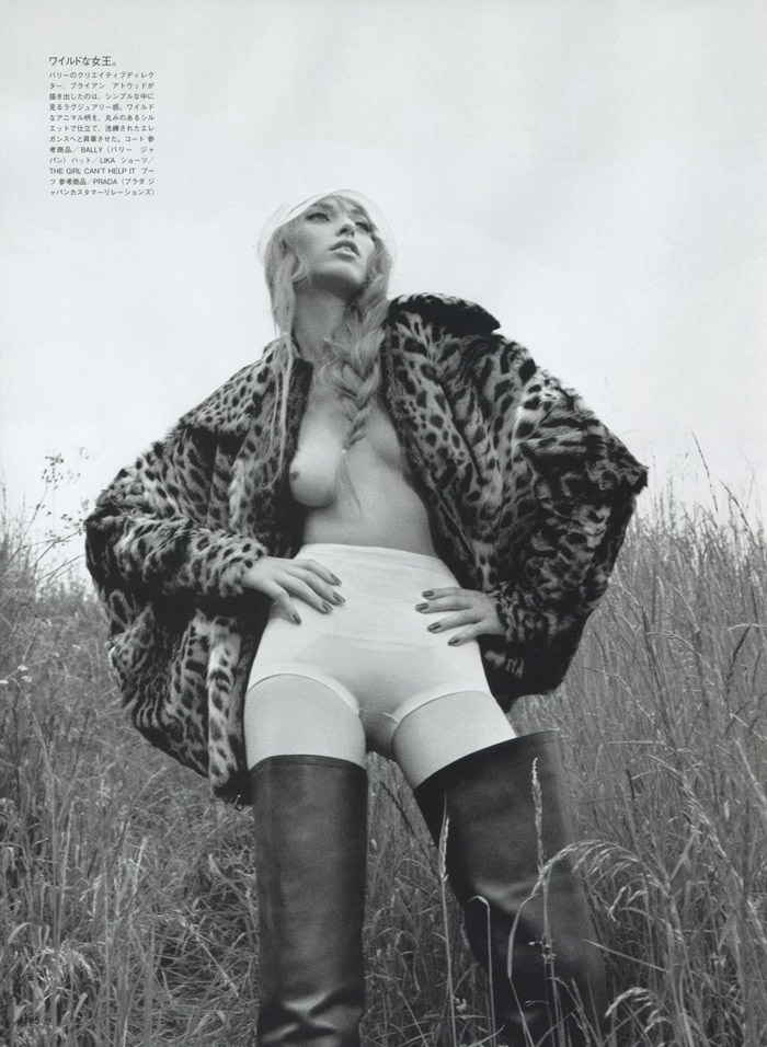 """Mélodie Dagault photographed by Emma Summerton in """"Primitive Echoes"""" for Vogue Nippon, January 2010 4"""