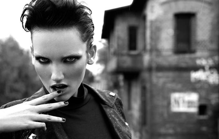 "Nina Reijnders photographed by Koray Birand in ""Berlin In Berlin"" for Marie Claire 5"