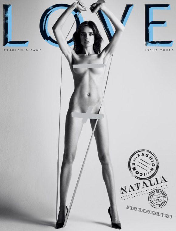 Cover: Natalia Vodianova for Love Magazine – Spring & Summer, 2010 1