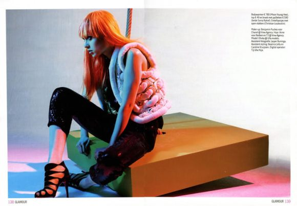 """Magdalena 'Olivka' Chrobot photographed by Barrie Hullegie in """"New Spirit"""" for Glamour Magazine 6"""