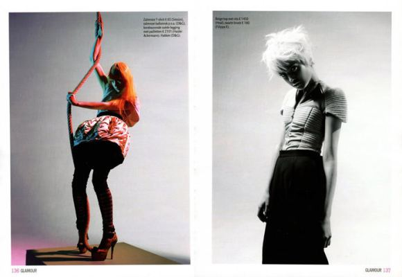 """Magdalena 'Olivka' Chrobot photographed by Barrie Hullegie in """"New Spirit"""" for Glamour Magazine 5"""