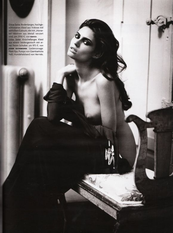 """Bianca Balti photographed nude by Vincent Peters in """"Privat Stunde"""" for Vogue Germany, February 2010 4"""