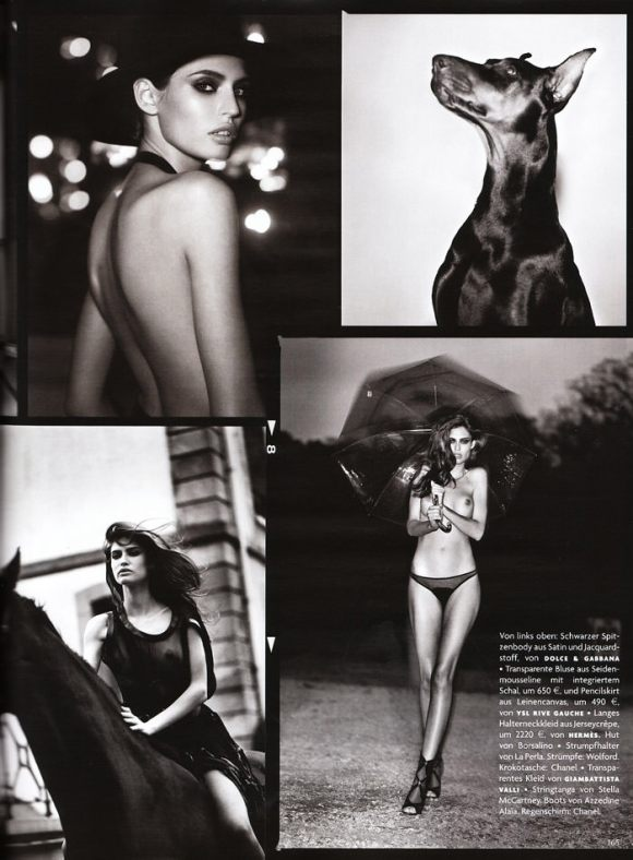 """Bianca Balti photographed nude by Vincent Peters in """"Privat Stunde"""" for Vogue Germany, February 2010 8"""