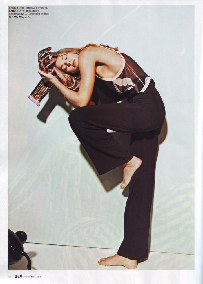 """Tori Praver photographed by Jacob Sutton in """"The Exhibitionist"""" for Elle, December 2009 2"""