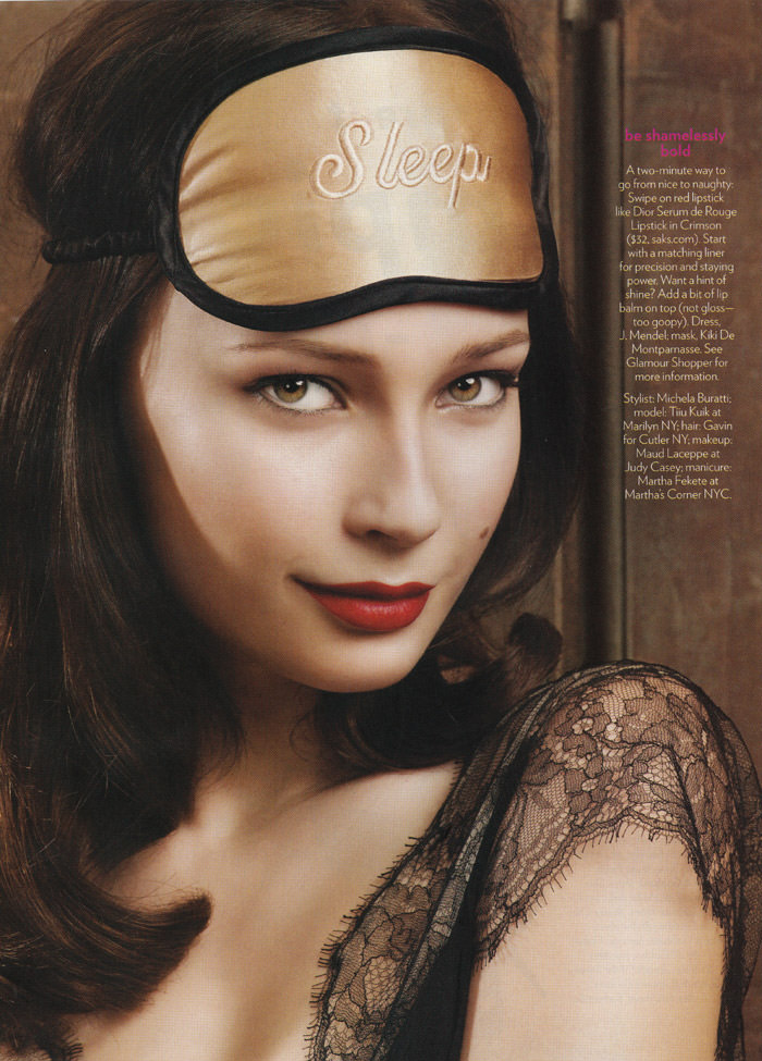 "Tiiu Kuik photographed by Rennio Maifredi in ""Have A Gorgeous Night... In"" for Glamour, February 2010 2"