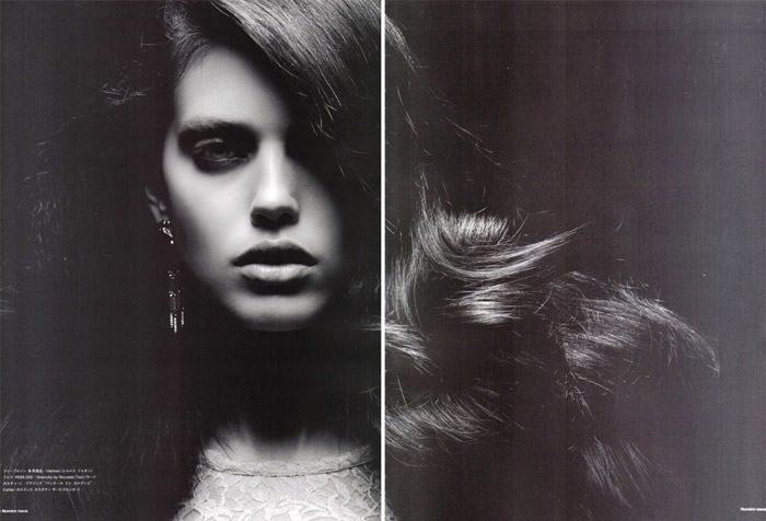 "Emily Didonato photographed by Satoshi Saikusa in ""Dazzling Noir"" for Numéro Tokyo, February 2010 1"