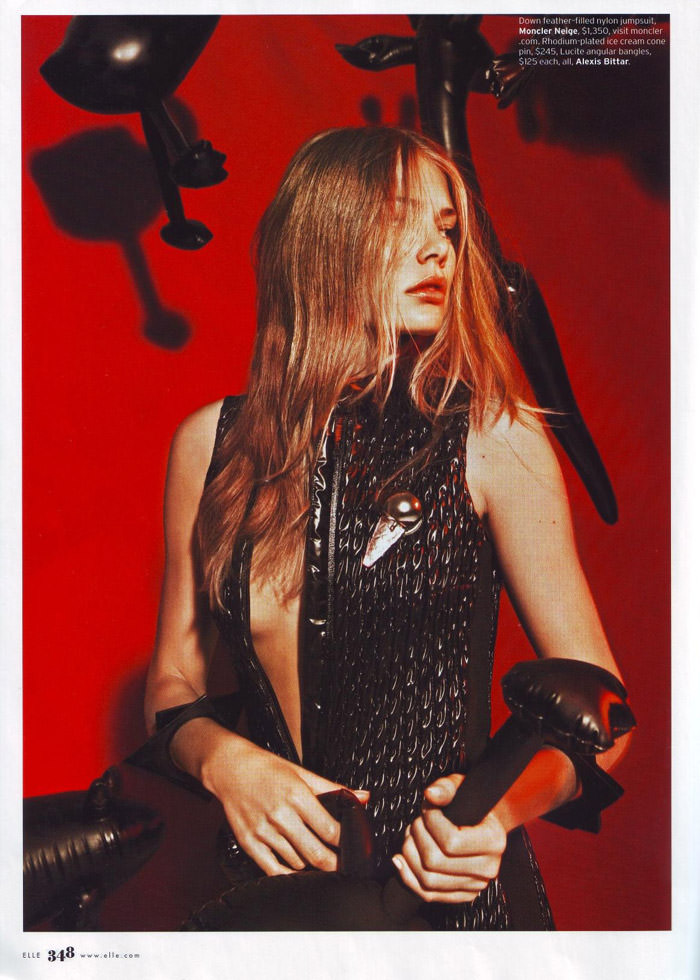 """Tori Praver photographed by Jacob Sutton in """"The Exhibitionist"""" for Elle, December 2009 4"""