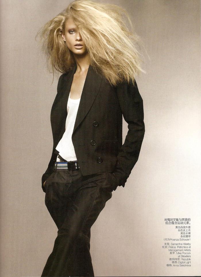 "Anna Selezneva photographed by Sølve Sundsbø in ""Revolutionary Blazer"" for Vogue China, March 2010 2"