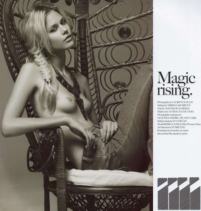 """Rebecca Hiller photographed by Laurence Ellis in """"Magic Rising"""" for Mirage Magazine #2 1"""