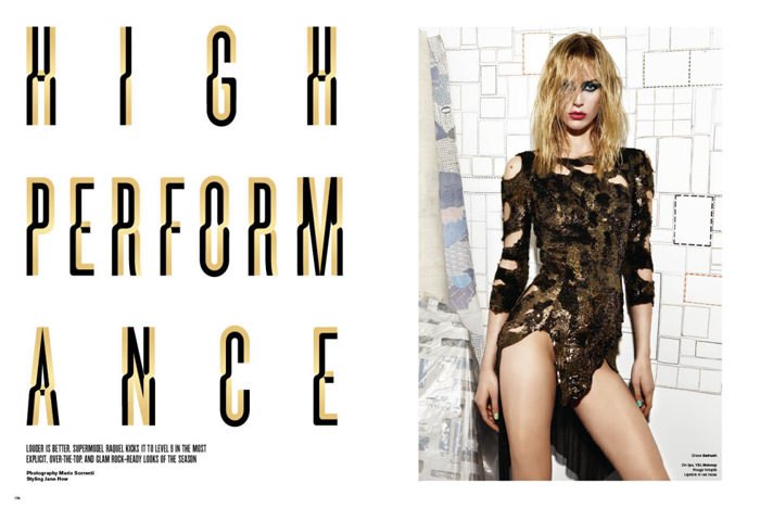 """Raquel Zimmermann photographed by Mario Sorrenti in """"High Performance"""" for V Magazine #64 1"""