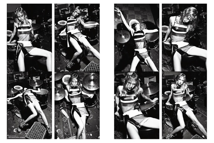 """Raquel Zimmermann photographed by Mario Sorrenti in """"High Performance"""" for V Magazine #64 9"""